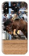 American Cowboy Riding Bucking Rodeo Bronc I IPhone Case