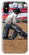 American Cowboy Thrown From A  Bucking Rodeo Bronc IPhone Case