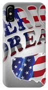 American Dream Digital Typography Artwork IPhone Case