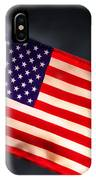 American Flag In Smoke IPhone Case