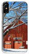 American Flag Red Barn IPhone Case