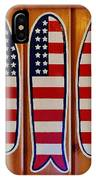 American Flag Surfboards Original Painting By Mark Lemmon IPhone Case