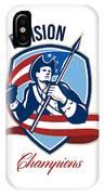 American Football Division Champions Shield Retro IPhone Case