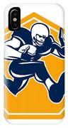 American Football Running Back Stiff Arm IPhone Case
