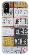 American License Plates IPhone Case