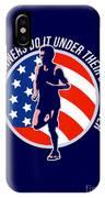 American Marathon Runner Running Power Retro IPhone Case