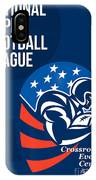 American National Super Football League Poster  IPhone Case