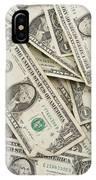 American One Dollar Bills IPhone Case