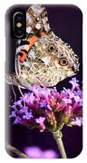 American Painted Lady Butterfly Purple Background IPhone Case