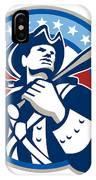 American Patriot Baseball Bat Retro IPhone Case