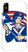 American Patriot Minuteman With Flag Retro IPhone Case