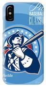 American Patriot Pro Baseball Classic Poster Retro IPhone Case