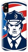American Policeman Security Guard Retro IPhone Case