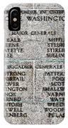 American Revolutionary War Generals IPhone Case