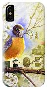 American Robin And Wild Plum IPhone Case