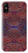 Americana Swirl Design 10 IPhone Case