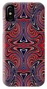 Americana Swirl Design 3 IPhone Case