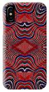 Americana Swirl Design 7 IPhone Case