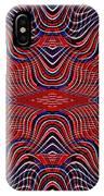 Americana Swirl Design 9 IPhone Case