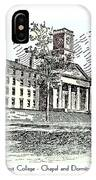 Amherst College - Chapel And Dormitories IPhone Case