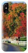 Amish Barn In Autumn IPhone Case