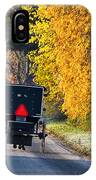 Amish Buggy And Yellow Leaves IPhone Case
