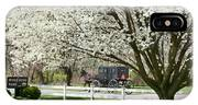 Amish Buggy Fowering Tree IPhone Case