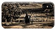 Amish Buggy On A Country Road IPhone Case