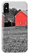 Amish Red Barn And Farm IPhone Case