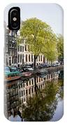 Amsterdam Canal In Spring IPhone Case