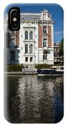 Amsterdam Canal Mansions - Bright White Symmetry  IPhone Case