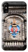 Amsterdam Coat Of Arms On Westerkerk Tower IPhone Case