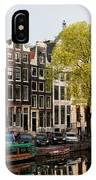Amsterdam Houses Along The Singel Canal IPhone Case