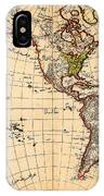 Amtique Map Americas IPhone Case