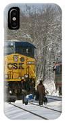 Amtrak And Csx Crews IPhone Case