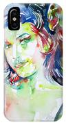Amy Winehouse Watercolor Portrait.1 IPhone Case