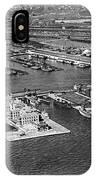 An Aerial View Of Ellis Island IPhone Case