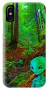 An Alien In A Cosmic Forest Of Time IPhone Case