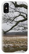 An Appleton Tree And Field In Winter IPhone Case