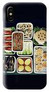 An Assortment Of Food In Containers IPhone Case