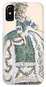 An Elaborate Royal Court Gown, Engraved IPhone Case