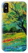 An Oak Amid Flowers In Texas IPhone Case