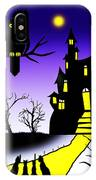 An Owl Some Cats And A Spooky House IPhone Case