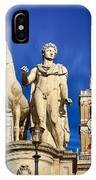 Ancient Marble Sculpture Of Castor At The Cordonata Stairs  IPhone Case