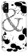 And Sign Splashes Sphere  IPhone Case