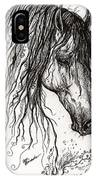 Andalusian Horse Drawing 2 IPhone Case