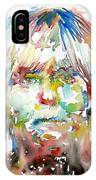 Andy Warhol Watercolor Portrait IPhone Case