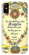 Angel Fraktur Painting IPhone Case