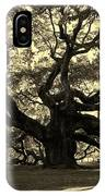 Angel Oak Tree Sepia IPhone Case