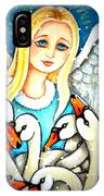 Angel Sheltering Seven Swans IPhone Case